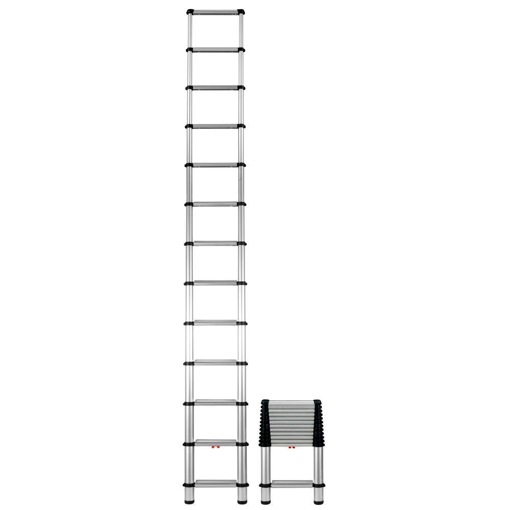 12.5 ft. Aluminum Pro Telescopic Extension Ladder