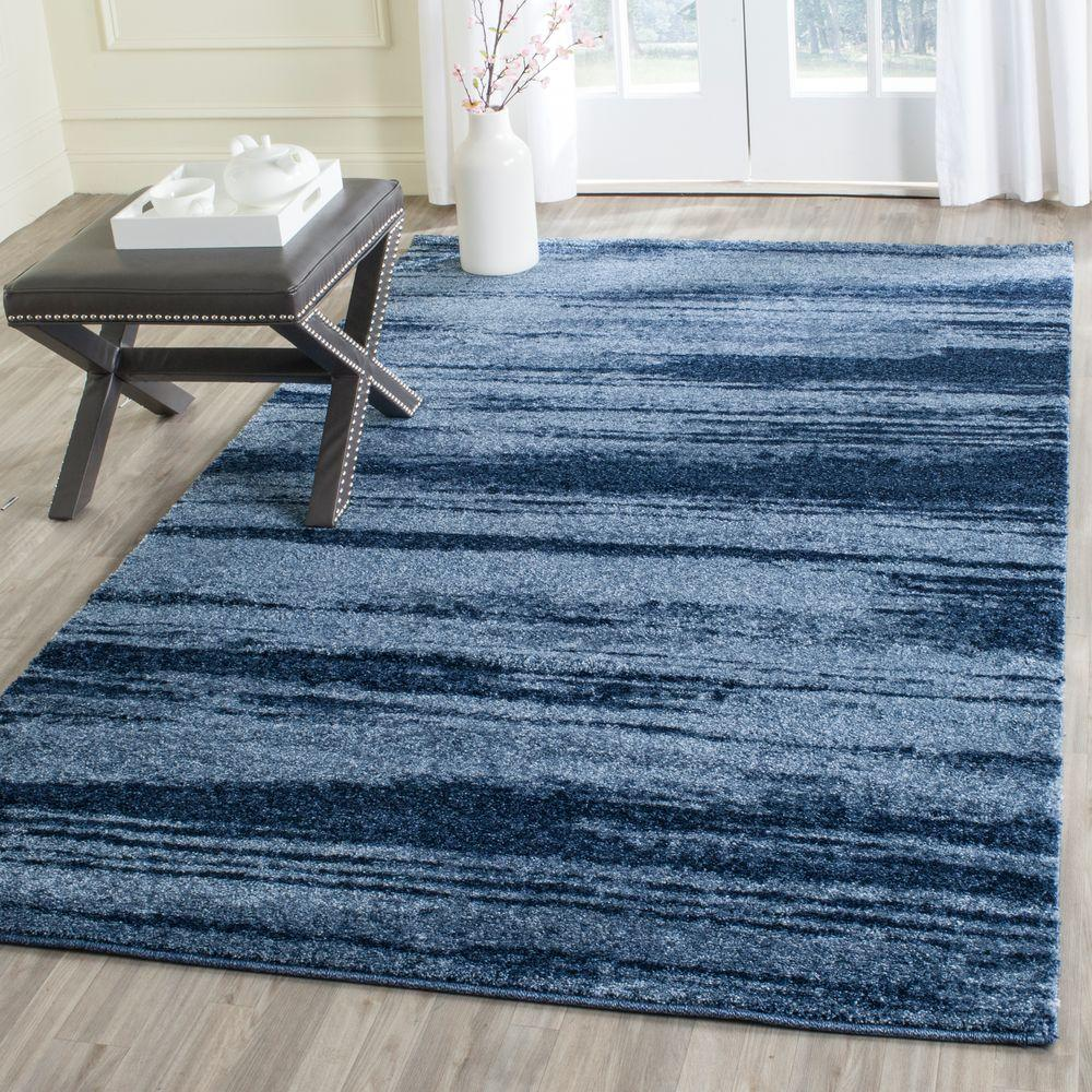 Safavieh Retro Light Blue Blue 4 Ft X 6 Ft Area Rug