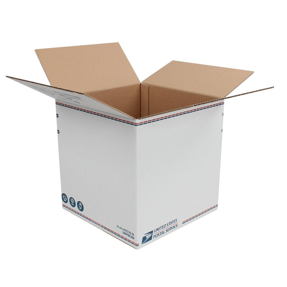 Pratt Retail Specialties 14 in. L x 14 in. W x 14 in. H Adjustable Depth Shipping Box