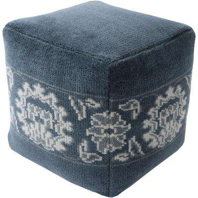 Iuliana Navy Accent Pouf Ottoman