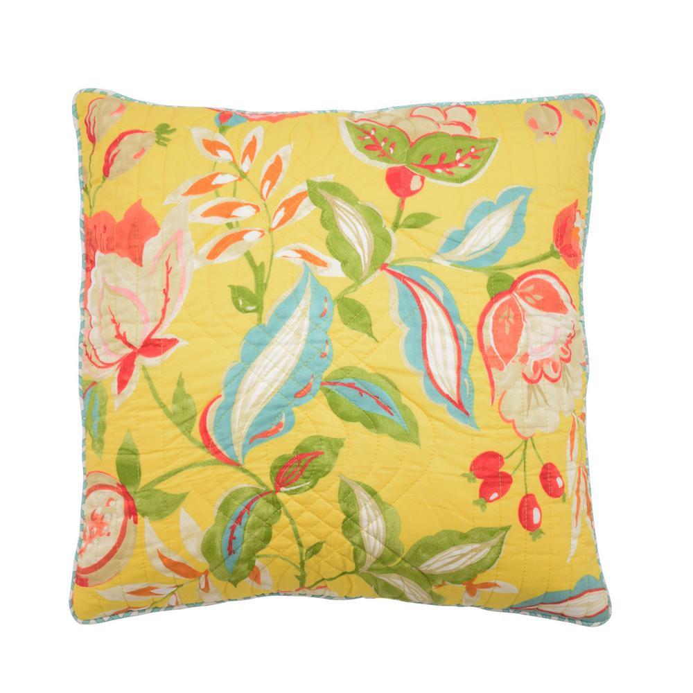 Waverly Modern Poetic Cotton Square Sunshine Decorative Pillow 16305020X020SSH