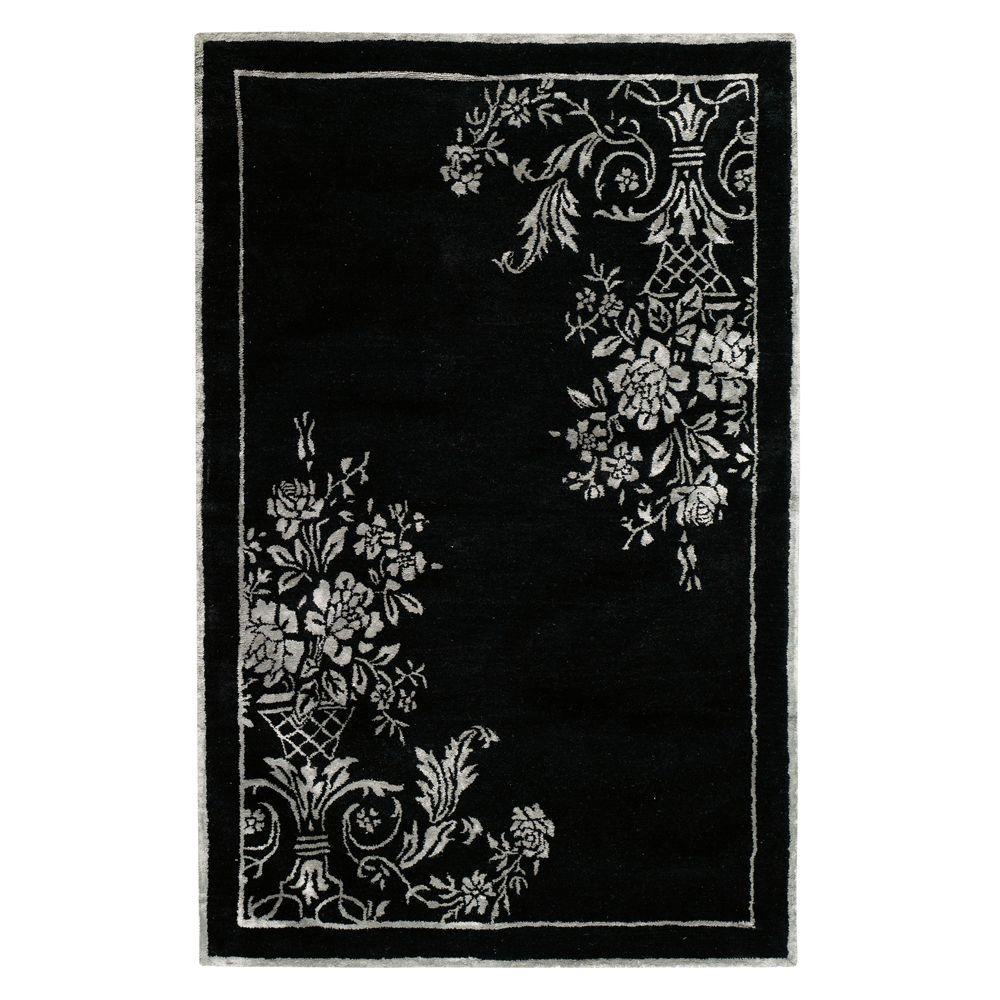 Home Decorators Collection Eminence Black and Gray 2 ft. x 3 ft. Area Rug