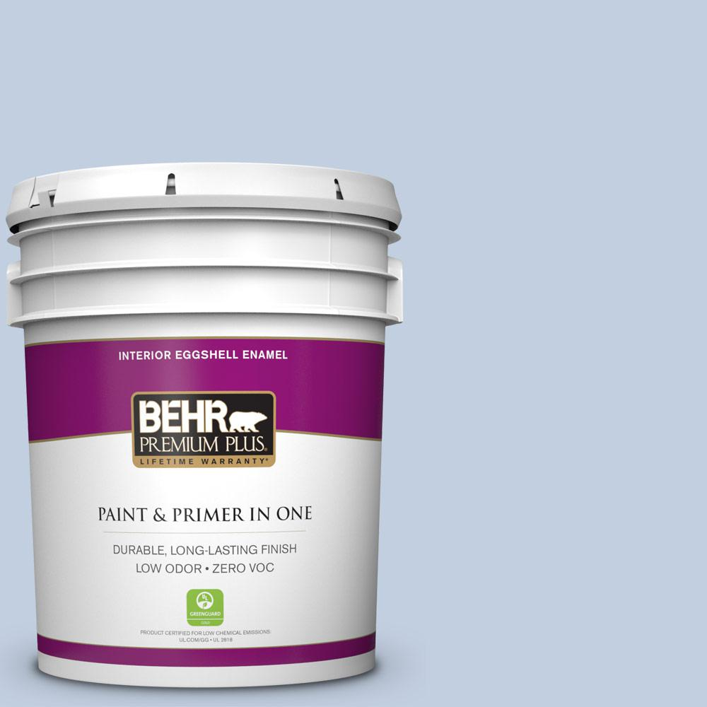 5 gal. #580E-2 Saltwater Eggshell Enamel Zero VOC Interior Paint and