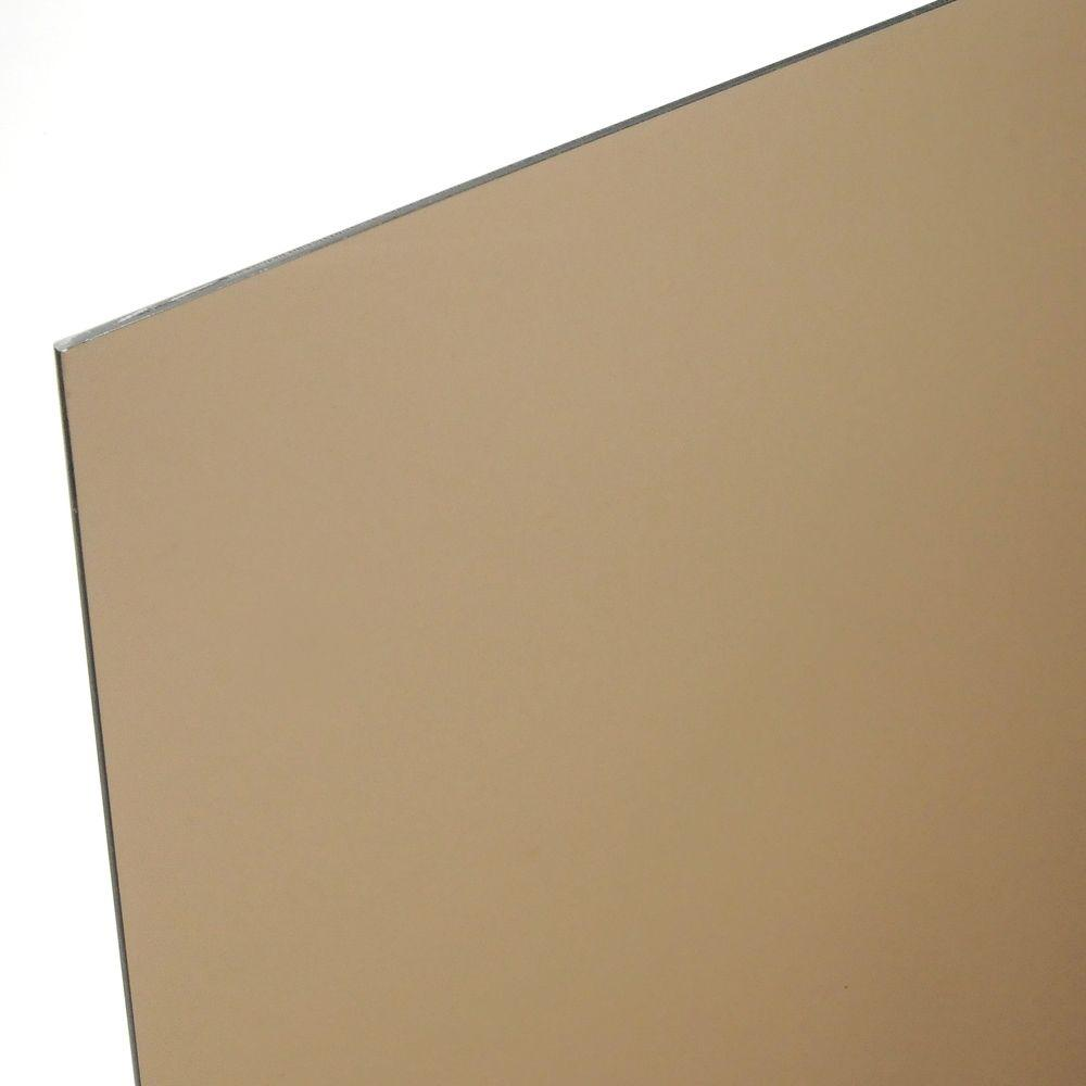 OPTIX 48 in. x 96 in. x 1/4 in. Bronze Acrylic Sheet