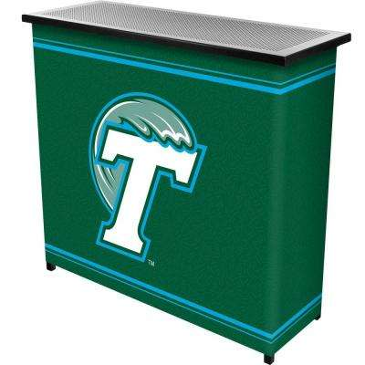 Tulane University 2-Shelf Black Bar with Case