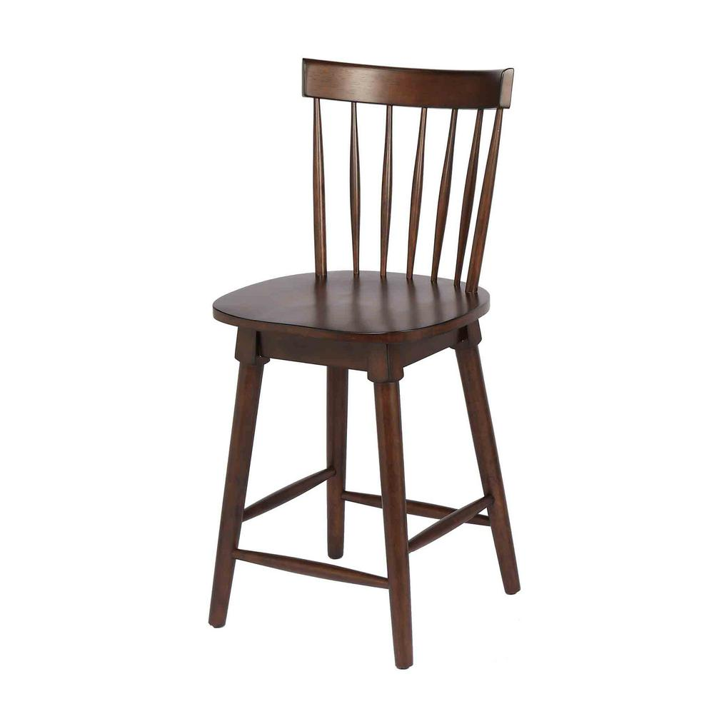 Home Styles Arts Crafts 24 In Counter Stool: Craft + Main Elise 24 In. Walnut Counter Height Swivel Bar