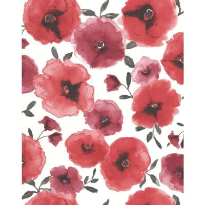 Poppies Red Removable Wallpaper