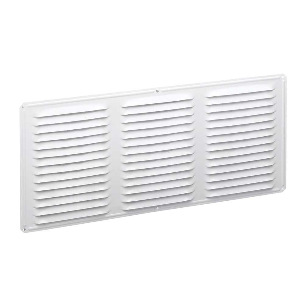 16 in. x 8 in. Aluminum Louvered Soffit Vent in White