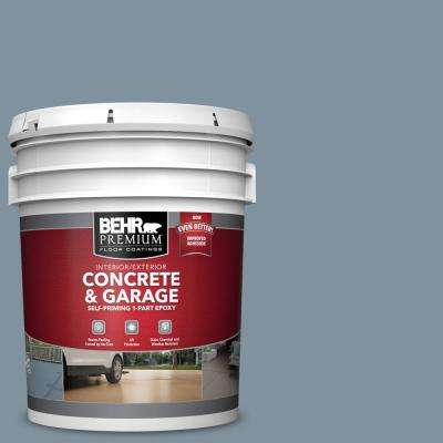 5 gal. #PFC-54 Blue Tundra Self-Priming 1-Part Epoxy Satin Interior/Exterior Concrete and Garage Floor Paint