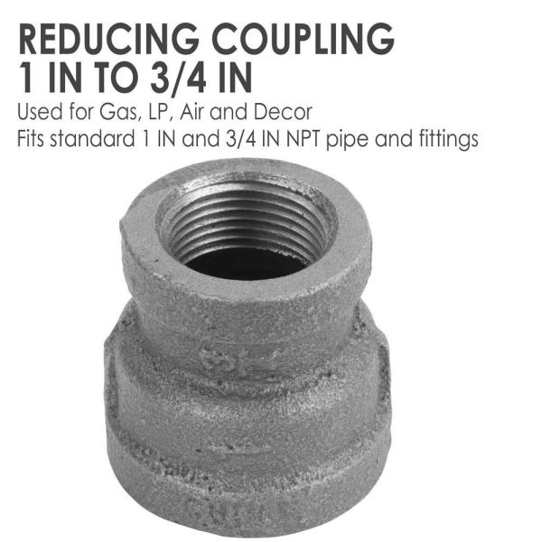"""3//4/"""" BLACK MALLEABLE IRON STRAIGHT COUPLING fitting pipe npt LOT OF 10"""