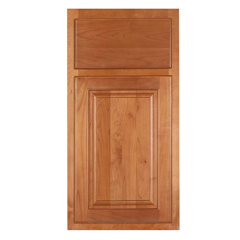 Home Decorators Collection 13x13 in. Cabinet Sample Door in Woodford Cinnamon