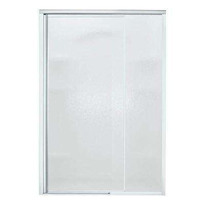 Vista Pivot II 48 in. x 65-1/2 in. Semi-Framed Pivot Shower Door in Silver with Handle