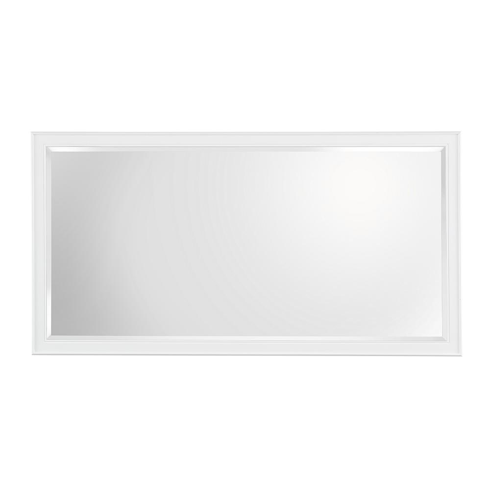 Home depot mirrors bathroom - H Framed Wall Mirror In White
