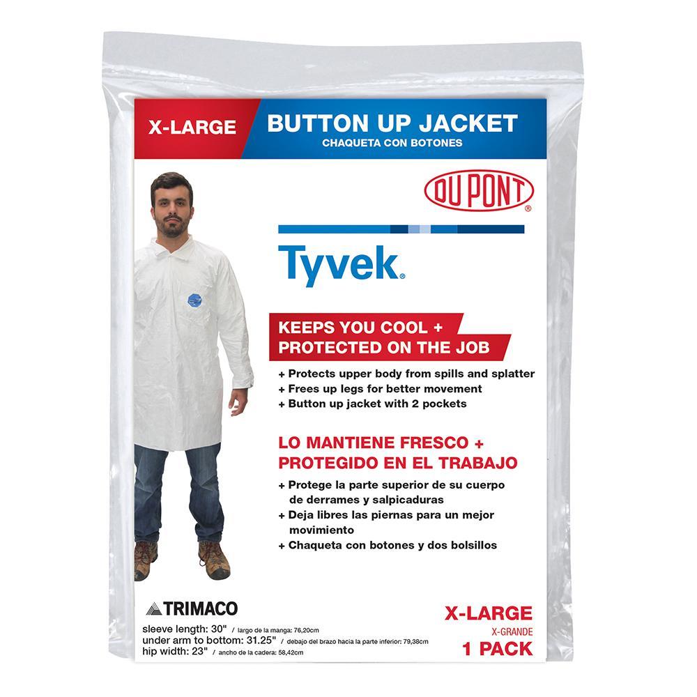 DuPont Tyvek XL Coverall Jacket