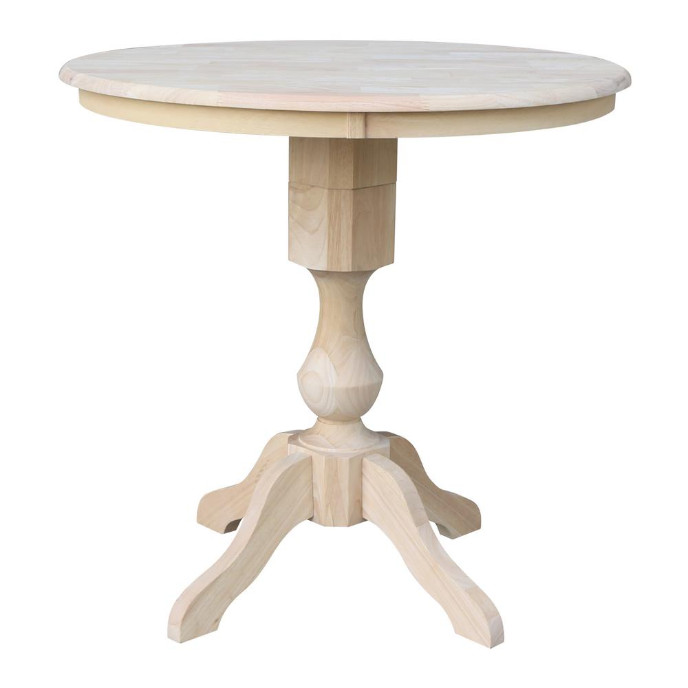 c331d032ba82 International Concepts Sophia Ready to Finish 36 in. Unfinished Round 36  in. High Table-K-36RT-11P - The Home Depot