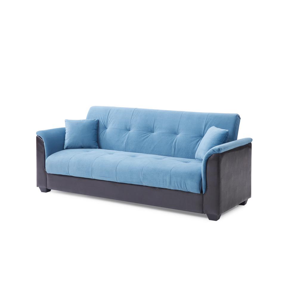 Blue Champion Sofa Futon Bed
