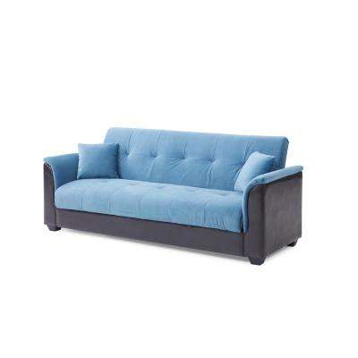 Blue Champion Sofa Futon Bed
