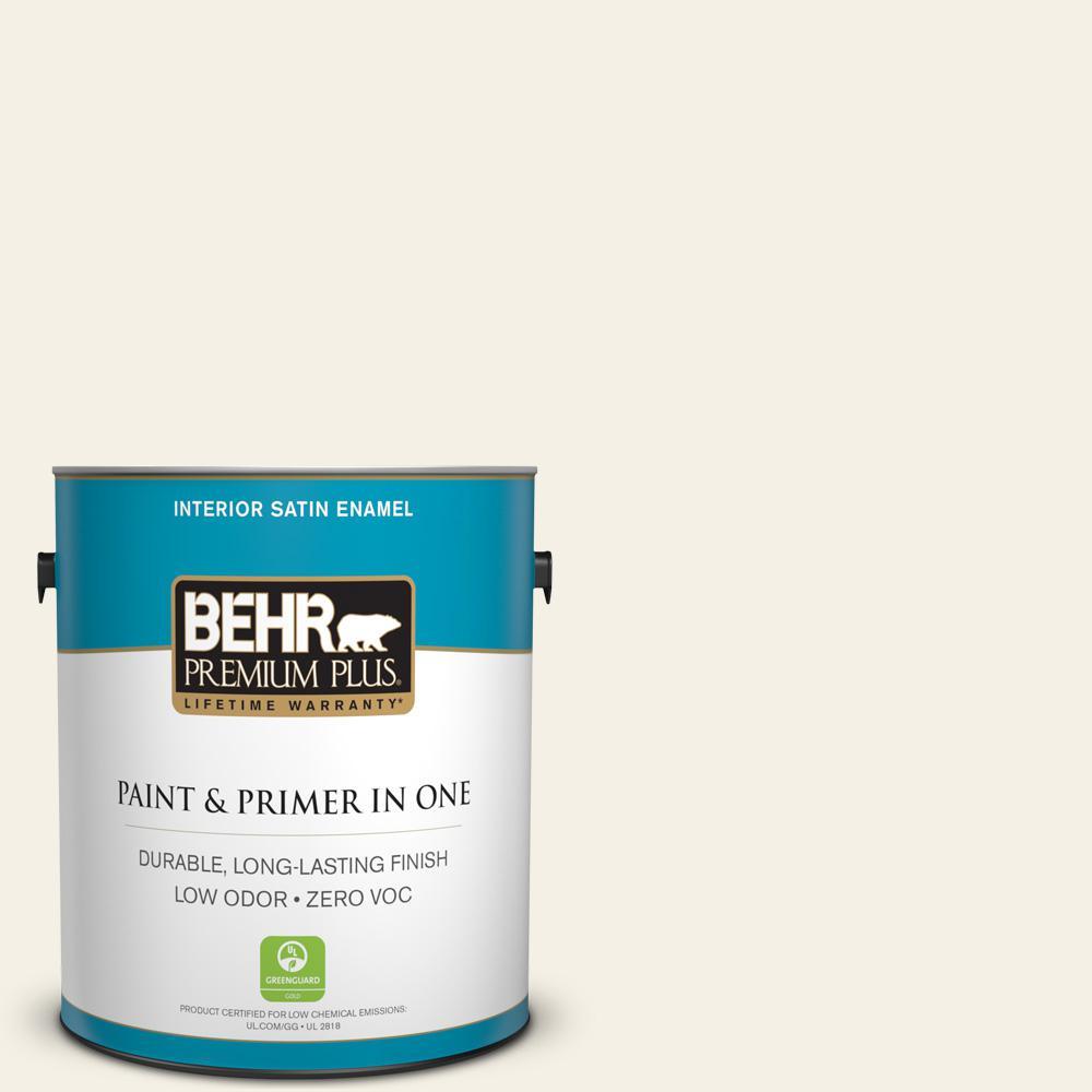 1-gal. #BWC-01 Simply White Satin Enamel Interior Paint