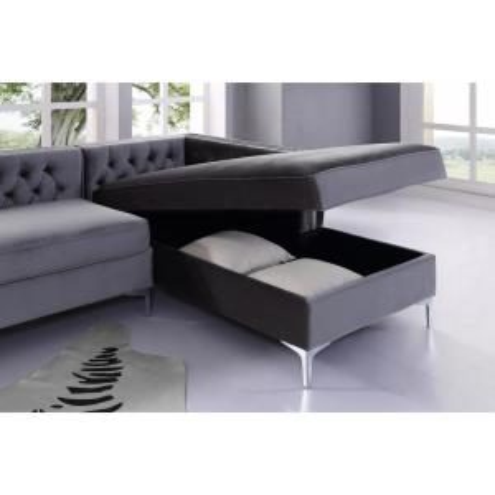 Fabulous Inspired Home Olivia Grey Silver Velvet Right Facing Ibusinesslaw Wood Chair Design Ideas Ibusinesslaworg