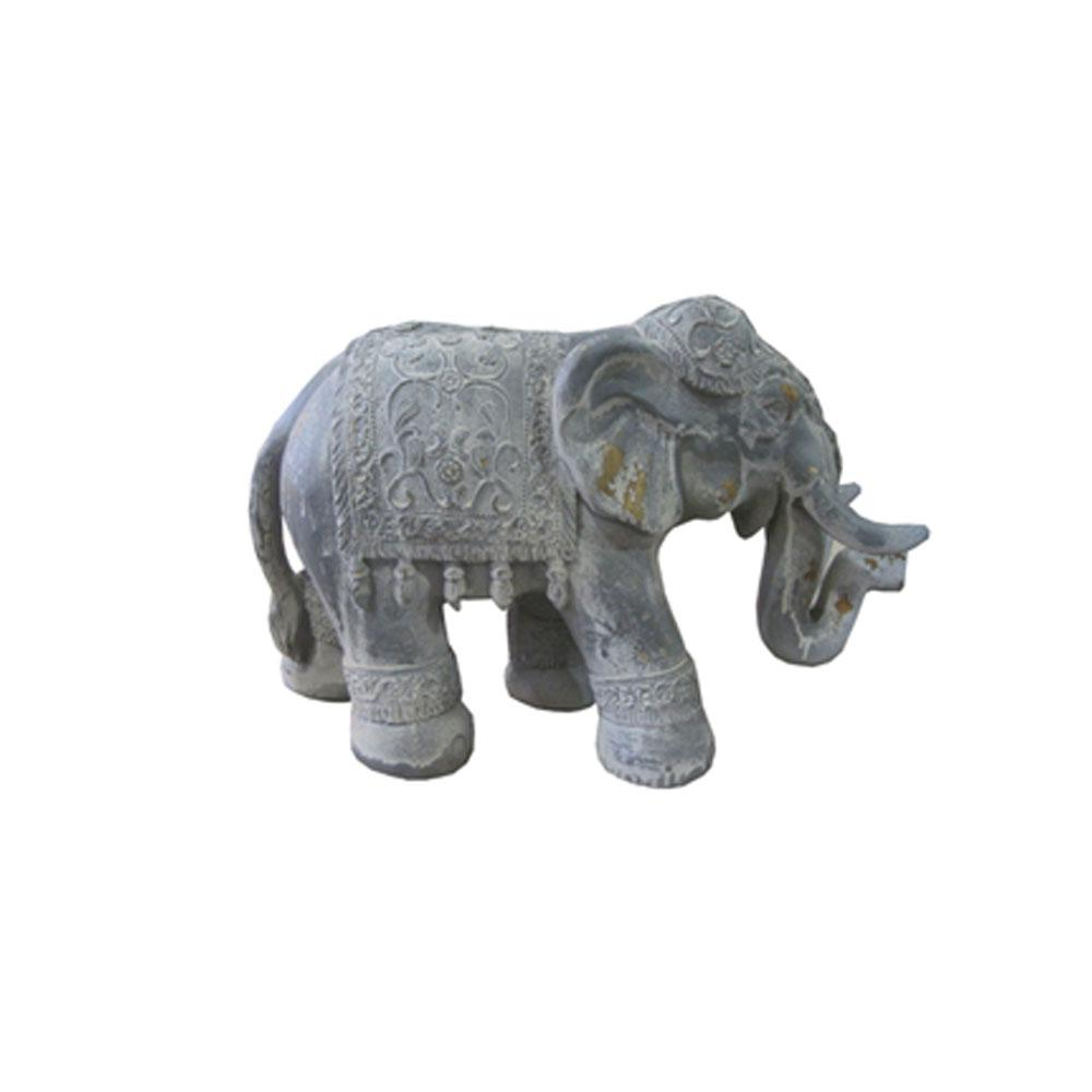 Zaer Ltd. International Metal Boho Elephant Statue