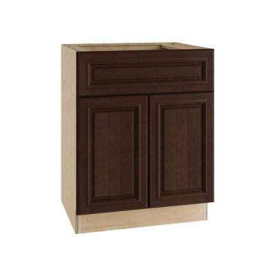 Somerset Assembled 30x34.5x24 in. Base Cabinet with 2 Doors and 1 Drawer in Manganite