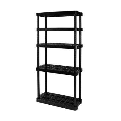 Medium-Duty Adjustable Ventilated 5-Shelf Storage Shelving Unit