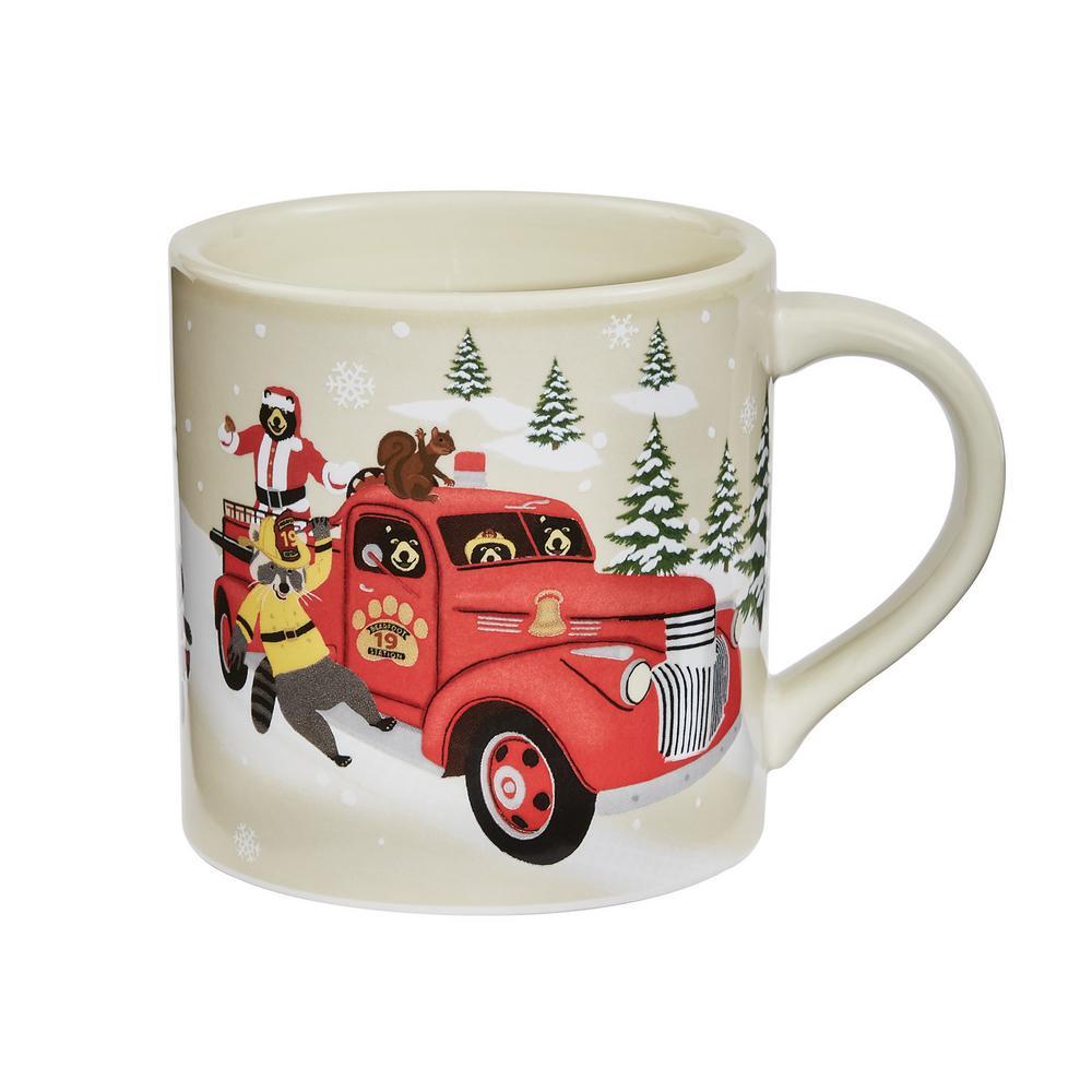 Hometown Holiday Multicolor Ceramic Coffee Mug (Set of 4)