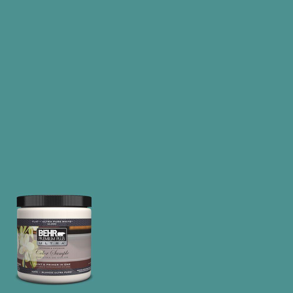 8 oz. #500D-6 Mirage Lake Interior/Exterior Paint Sample
