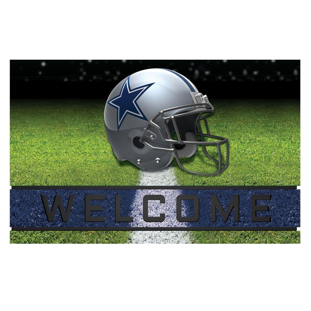 NFL - Dallas Cowboys 18 in. x 30 in. Rubber Door Mat