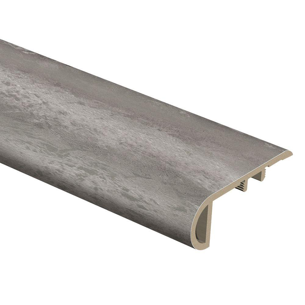 Zamma Blue Slate 3/4 in. Thick x 2-1/8 in. Wide x 94 in. Length Vinyl Stair Nose Molding