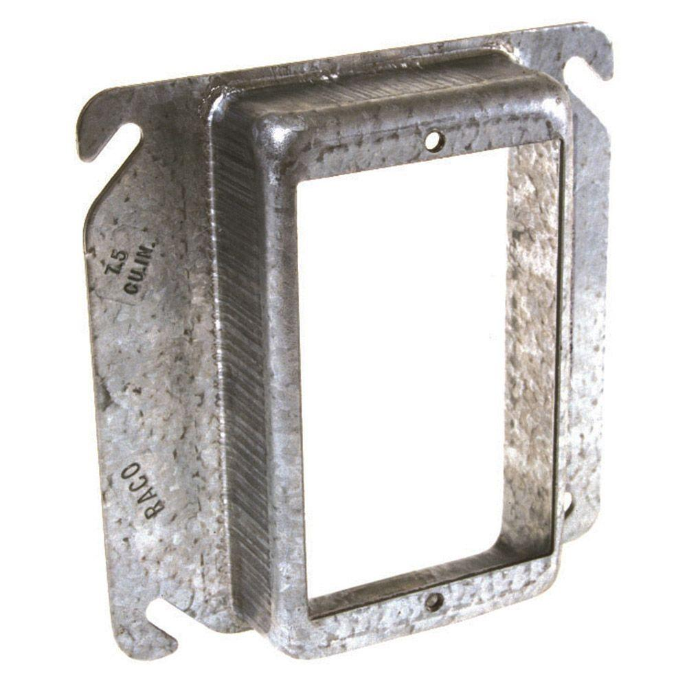 4 In Square Single Device Mud Ring Raised 1 8775 The Wiring Plug Box