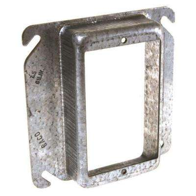 4 in. Square Single-Gang Raised 1-1/4 in. Mud Ring, (25 Pack)