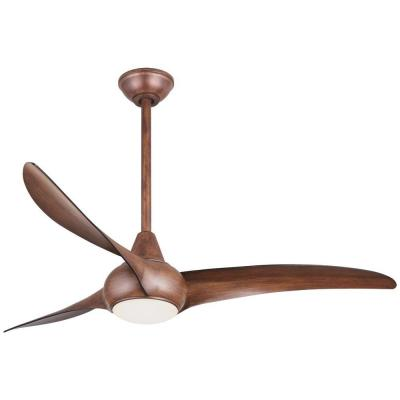Light Wave 52 in. Integrated LED Indoor Distressed Koa Ceiling Fan with Light with Remote Control
