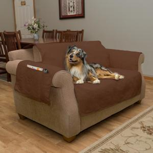 Tremendous Petmaker Non Slip Brown Waterproof Love Seat Slipcover Pabps2019 Chair Design Images Pabps2019Com