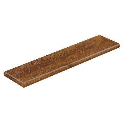 Barnes Mill Oak 94 in. Length x 12-1/8 in. Deep x 1-11/16 in. Height Laminate Left Return to Cover Stairs 1 in. Thick