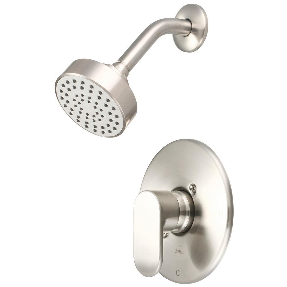 Olympia Faucets i1 1-Handle Wall Mount Shower Trim Kit in Brushed Nickel (Valve Not Included)
