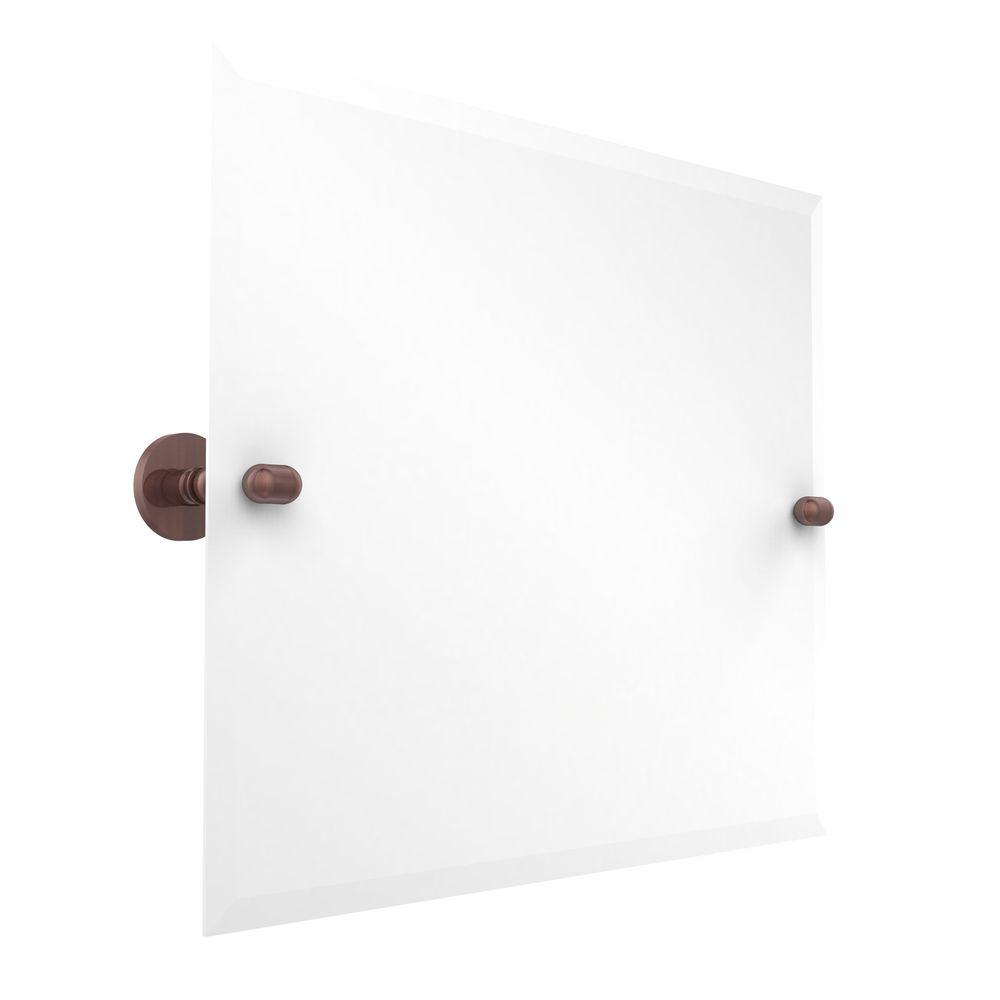 Allied Brass Tango Collection 21 in. x 26 in. Frameless Rectangular Landscape Single Tilt Mirror with Beveled Edge in Antique Copper