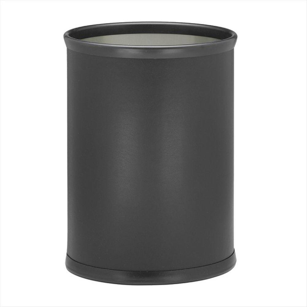 Fun Colors 13 Qt. Black Oval Waste Basket