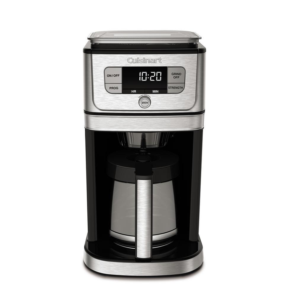 silver stainless cuisinart coffee makers dgb 800 64 1000 Cuisinart  Cup Grind And Brew Coffee Maker