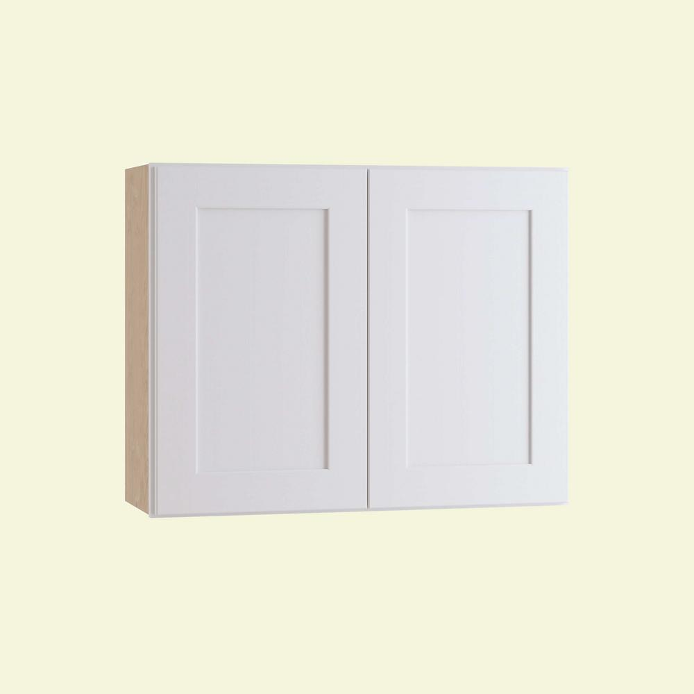 Home Decorators Collection Newport Assembled 36 in. x 24 in. x 12 in. Wall Kitchen Cabinet with Double Doors in Pacific White