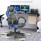 Tunney Blue PU Racing Gaming Chair
