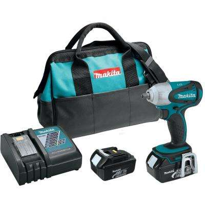 18-Volt LXT Lithium-Ion 3/8 in. Cordless Square Drive Impact Wrench Kit with (2) Batteries 3.0Ah Charger and Bag