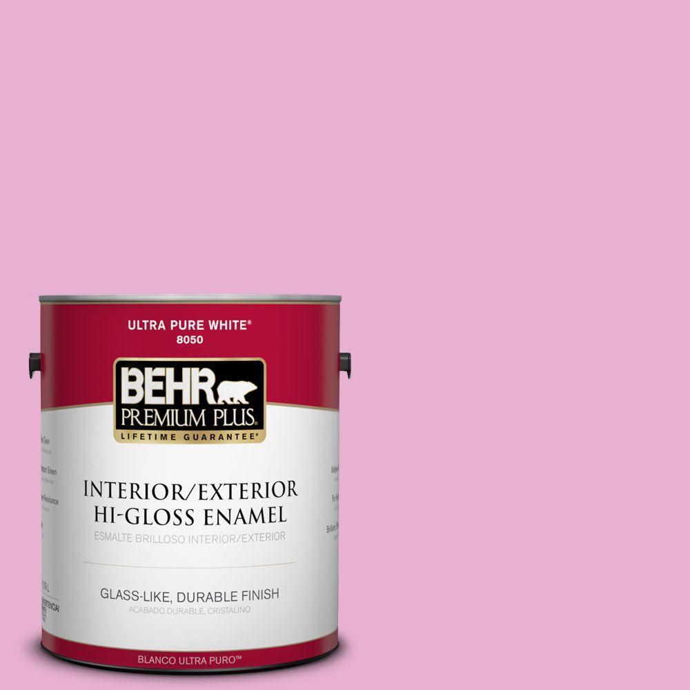 BEHR Premium Plus 1-gal. #P120-2 Gumball Hi-Gloss Enamel Interior/Exterior Paint