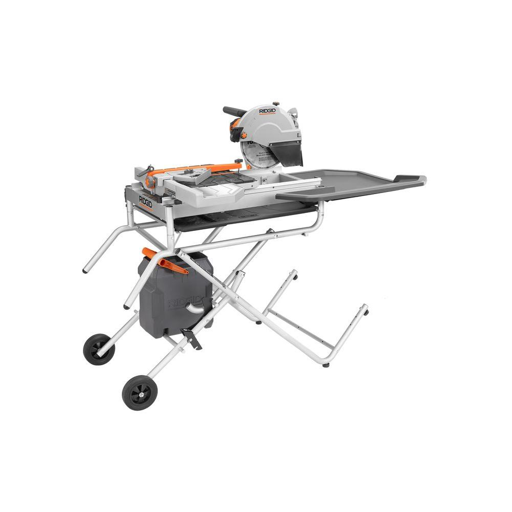 RIDGID 10 in. Portable Tile Saw with Laser