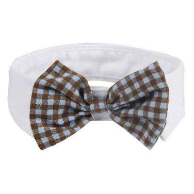 One-Size Black and White Fashionable and Trendy Dog Bowtie
