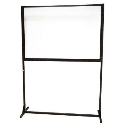 48 in. x 66 in. x 1 in. Protective Sneeze Plexi Shield - SCO with Levelers