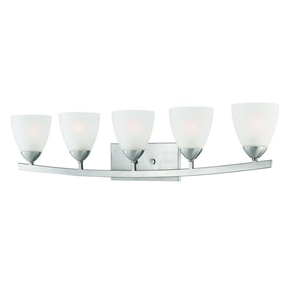 Thomas Lighting Charles 5-Light Brushed Nickel Bath Fixture-DISCONTINUED
