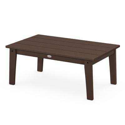 Grant Park Mahogany Plastic Outdoor Coffee Table