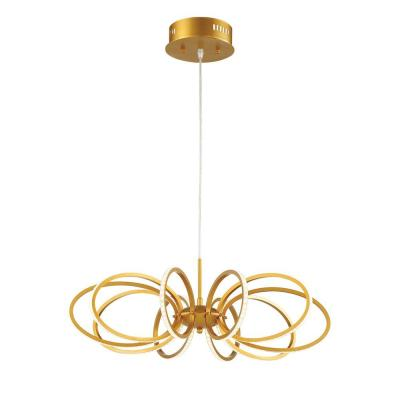 Tela Collection 45-Watt Gold Integrated LED Pendant