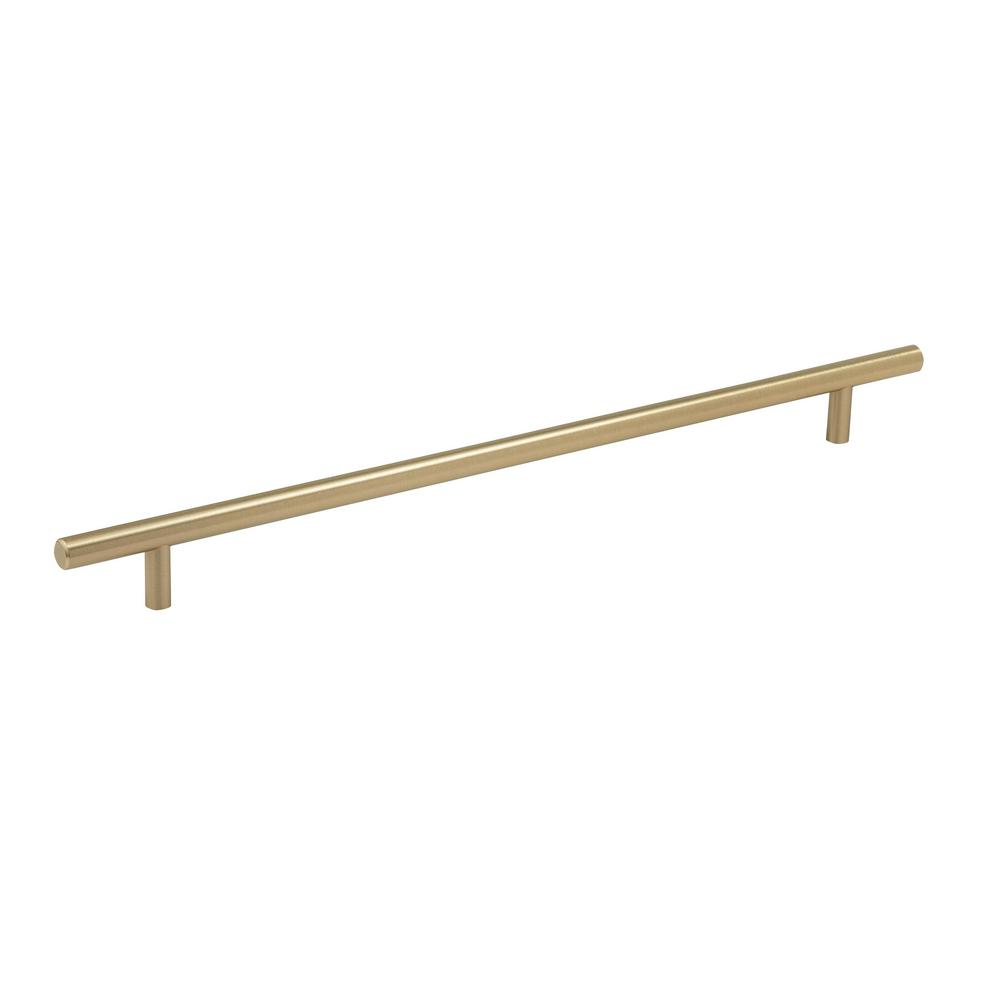 Amerock 12-5/8 in. (320 mm) Center Golden Champagne Cabinet Pull ...